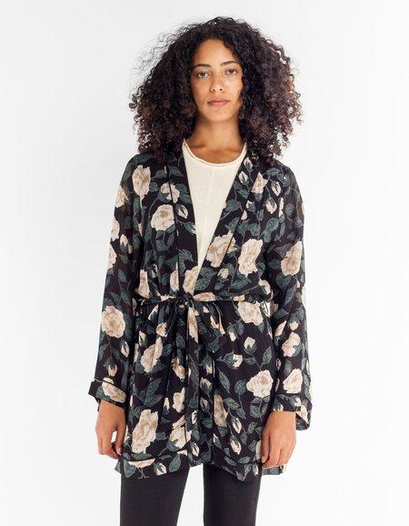 Ganni Carlton Georgette Kimono in Black