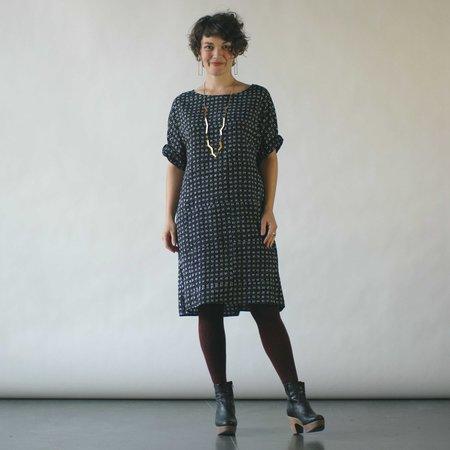Susan Eastman Batik Dress in Dashes Print