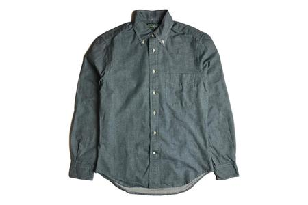 Gitman Vintage Blue Chambray Flannel