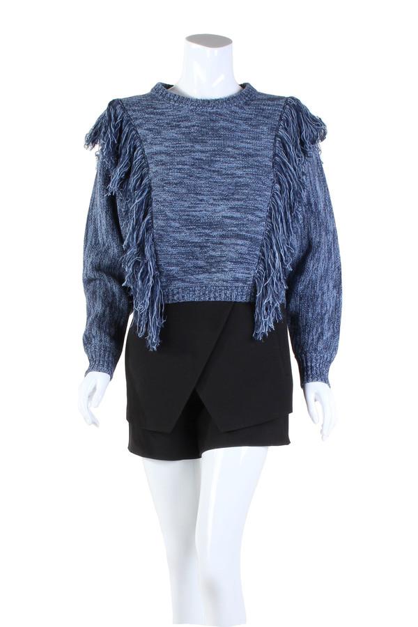 Cosette Agnes Fringe Sweater Ocean Blue