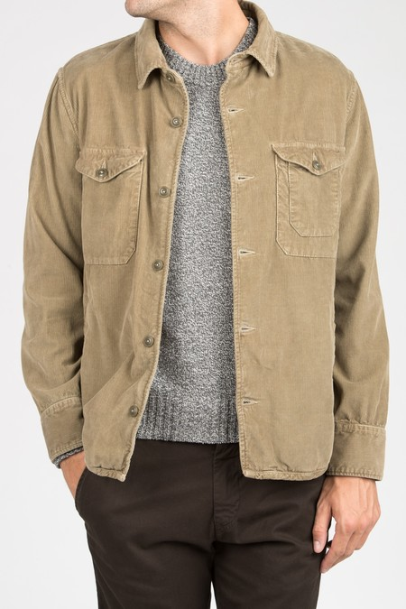 Save khaki United Pima Corduroy Multi-Pocket Jacket