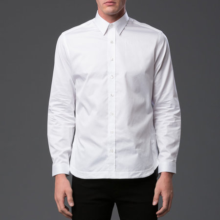 Men's Carlos Campos - Pleated Tail Button Down - White
