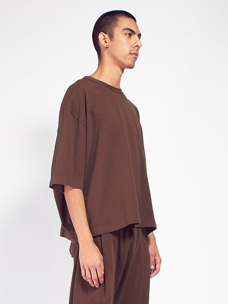 Willy Chavarria Short Sleeve Buffalo Tee - Chocolate