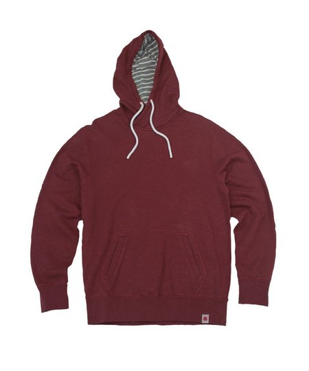 Premium Apparel Crafters Camp Hoodie Slub French Terry Pullover - Burgundy