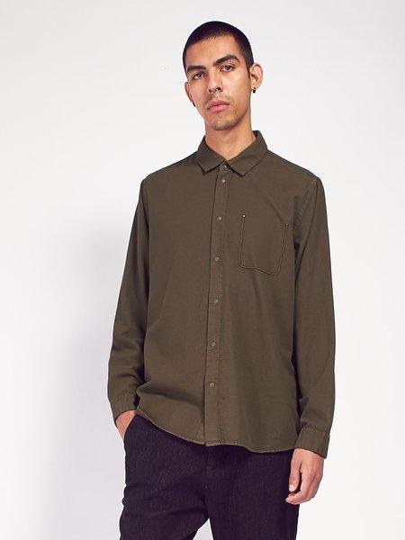 Folk Flannel Pop Stud Shirt - Military Green
