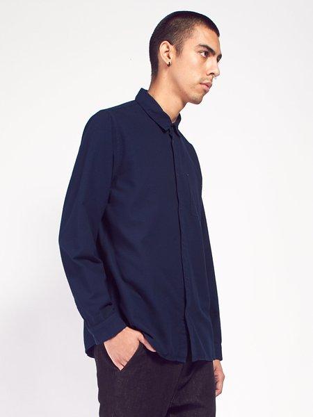 Folk Flannel Pop Stud Shirt - Navy