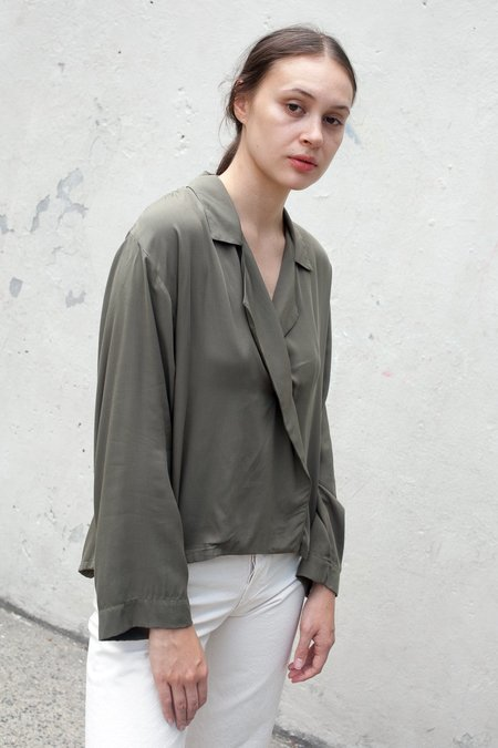 Jesse Kamm The Newton Blouse in Olive