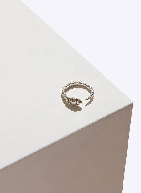 Pamela Love Serpent Ring with Precious Stones