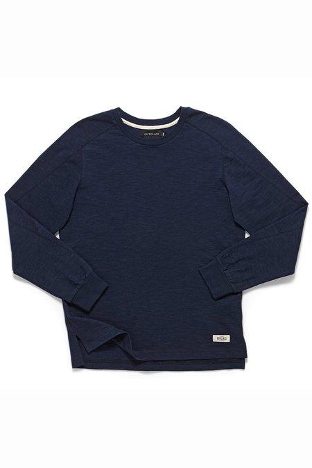 Outclass Slub Paneled T-Shirt - Indigo