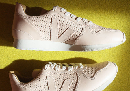 Veja Holiday Peach Perforated Leather