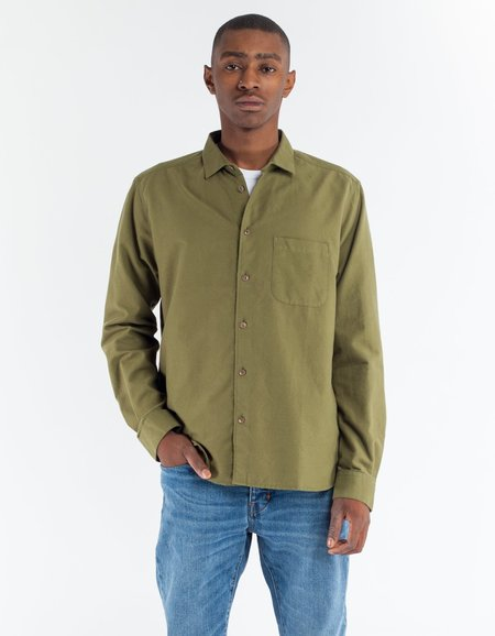YMC Curtis Shirt in Olive