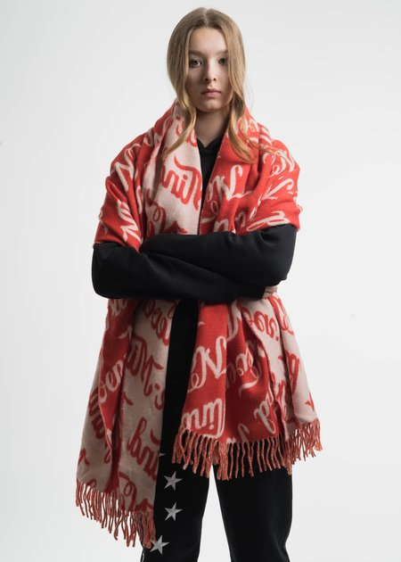 Etudes Red Life Wool Nevermind Scarf