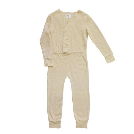Kid's Nico Nico Vanilla Play Long Johns - Vanilla