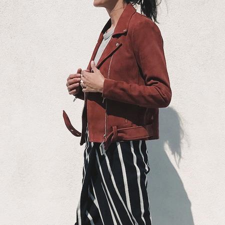 Veda Jayne Suede Jacket - Rust