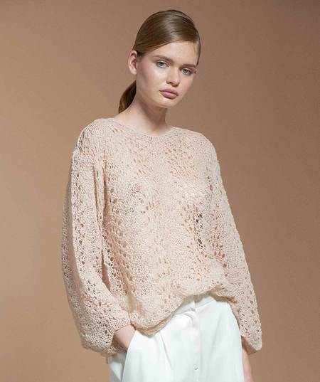 Ryan Roche Cashmere Crochet Sweater