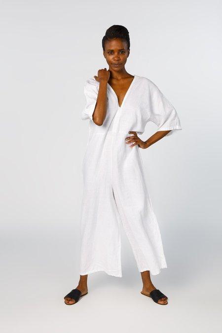 Miranda Bennett Muse Jumpsuit, Linen in White