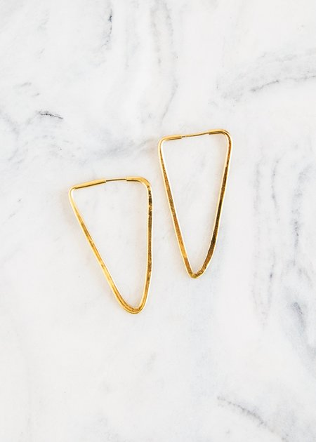 Takara Pyramid Earring Small Gold Plated