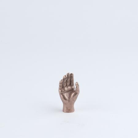 SAIKAI Kokokashiko Fearless Buddha Hand Bronze Paperweight in Copper
