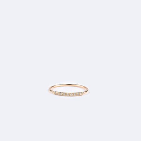 KRISTEN ELSPETH 14K Gold Pave Arc Ring