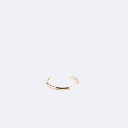 WWAKE Shiny Open Slice Ring in 10K Yellow Gold