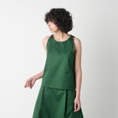 BARENA Spadina Sleeveless Top in Verde