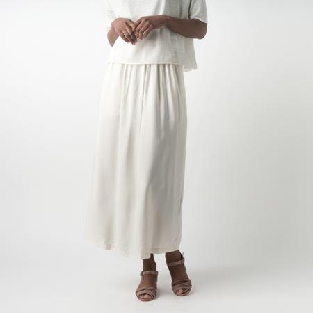 BARENA Munega Silk Viscose Lalla Skirt in Avorio