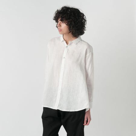 FOG LINEN WORK Ruri Shirt in White