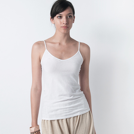 SKIN Pima Cotton Cami in White
