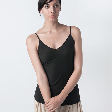 SKIN Pima Cotton Cami in Black