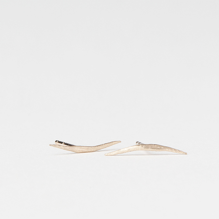 WWAKE Stick Wisp Earrings in 10K Yellow Gold