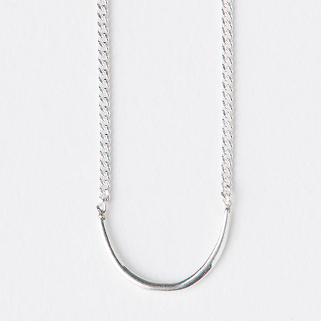 "WWAKE Arc 16"" Necklace in Sterling Silver"