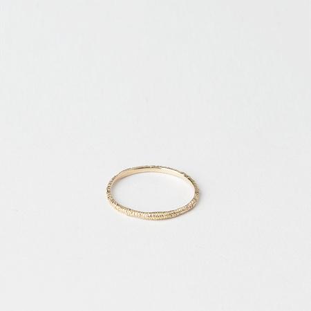 SATOMI KAWAKITA 18K Yellow Gold Wabi Sabi Etched Ring