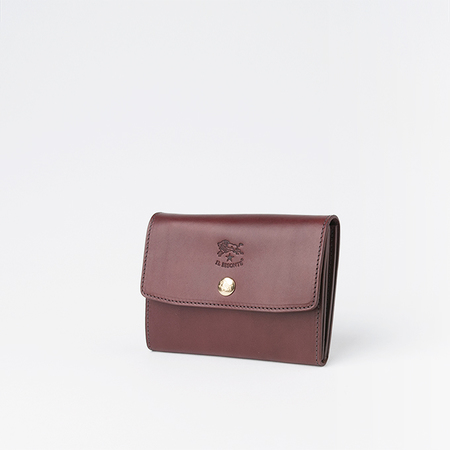 Il Bisonte Small Snap Wallet in Brandy