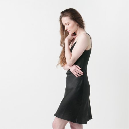 ORGANIC BY JOHN PATRICK Bias Slip in Black
