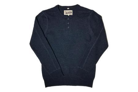 Schott Henley Sweater - Navy