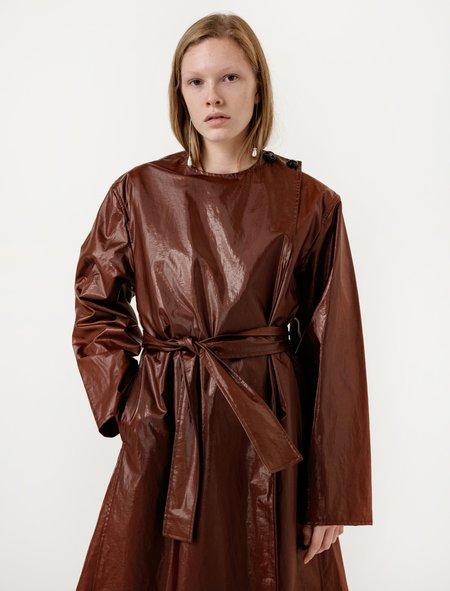 Lemaire Asymmetrical Overcoat Palissandro