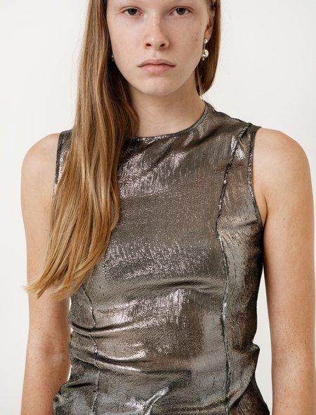 Lemaire Silver Sleeveless Top