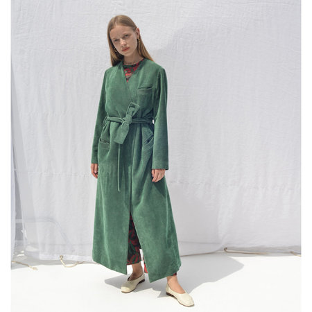 Moretti Belted Robe Jacket - Sea Green