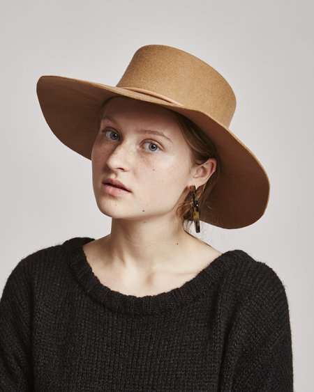 Brookes Boswell Reinette Wool Hat in Beige