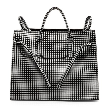 Slow and Steady Wins the Race Four Sided Rectangular Bag - Grid