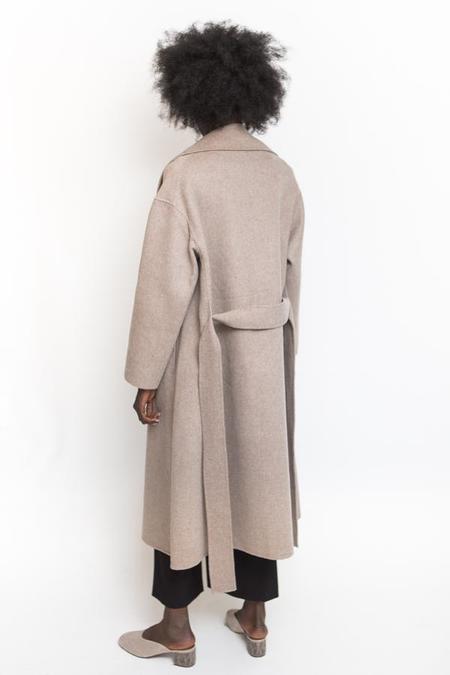 Achro Wool-Blend Handmade Coat - Taupe