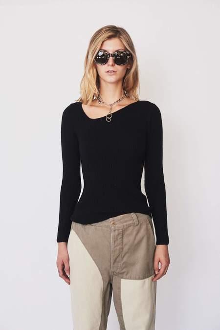 Shaina Mote Wool Curve Sweater