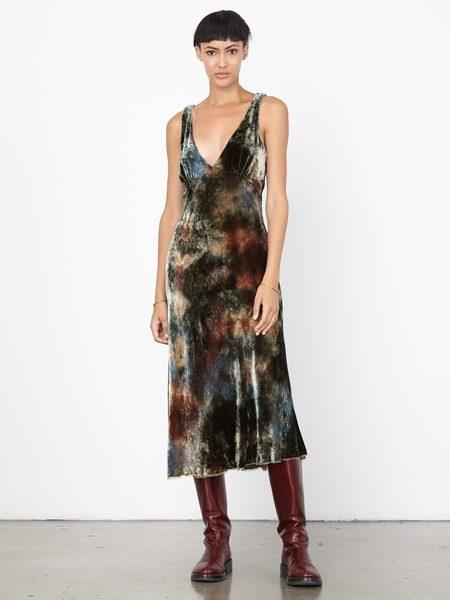 Raquel Allegra Velvet Tulip Dress
