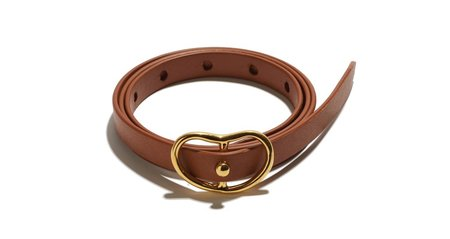 Lizzie Fortunato SKINNY GEORGIA BELT IN TAN