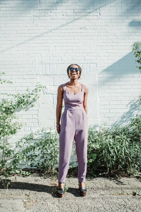 Birds of North America Shrike Jumpsuit - Mauve