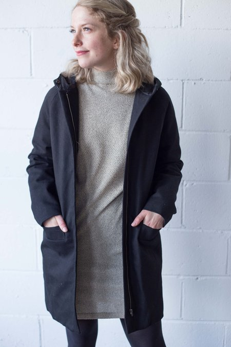 Valérie Dumaine Paden Coat - Black Denim Twill