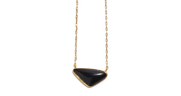 Lizzie Fortunato Kate Necklace in Black Agate