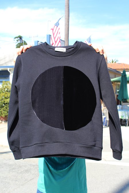 Correll Correll Duo Velvet Circle Sweatshirt - Black