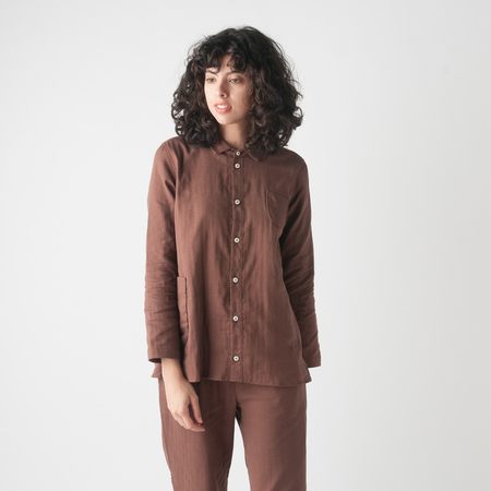 WRK-SHP Atelier Shirt in Cocoa