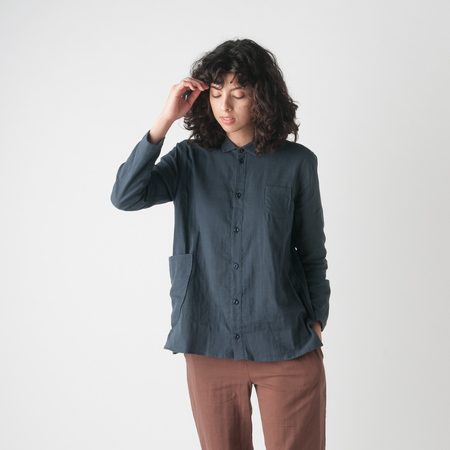 WRK-SHP Atelier Shirt in Storm Blue